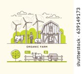 organic farm. milk and dairy... | Shutterstock .eps vector #639149173
