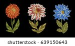 embroidery design. collection... | Shutterstock .eps vector #639150643