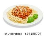 Spaghetti Bolognese On A White...