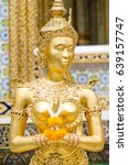 A Statue Of Golden Thai Style...
