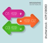 vector infographic template for ... | Shutterstock .eps vector #639158083