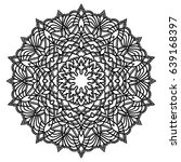 hand drawn monochrome oriental...   Shutterstock .eps vector #639168397
