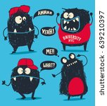 cute monsters vector set for t...