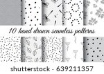 set of hand drawn nature...   Shutterstock .eps vector #639211357