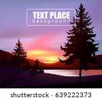 northern lights in wild terrain ... | Shutterstock .eps vector #639222373