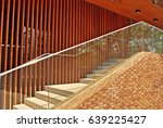 modern staircase with glass... | Shutterstock . vector #639225427