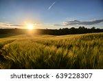 sunset   barley sunset | Shutterstock . vector #639228307