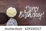 happy birthday script with... | Shutterstock . vector #639230317
