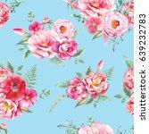 watercolor seamless pattern... | Shutterstock . vector #639232783