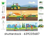 agriculture and farming... | Shutterstock .eps vector #639235687