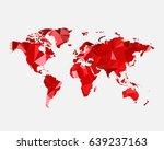 world map concept. polygonal...   Shutterstock .eps vector #639237163