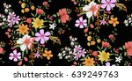 seamless floral pattern in... | Shutterstock .eps vector #639249763