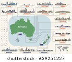 vector map  and flags  of... | Shutterstock .eps vector #639251227