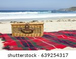 picnic basket by the seaside   Shutterstock . vector #639254317