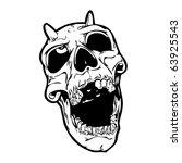 devil skull for halloween | Shutterstock . vector #63925543