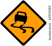 traffic sign warning car out of ... | Shutterstock . vector #63925585
