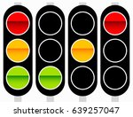 traffic light  traffic lamp... | Shutterstock .eps vector #639257047