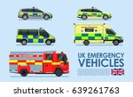 uk emergency vehicles cars ... | Shutterstock .eps vector #639261763