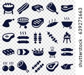 barbecue icons set. set of 25... | Shutterstock .eps vector #639271663