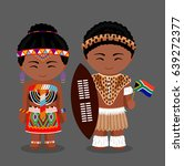 zulu tribe. zulus in national... | Shutterstock .eps vector #639272377