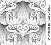 monochrome seamless pattern...   Shutterstock .eps vector #639273037