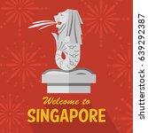 Flat Design Merlion  Singapore...