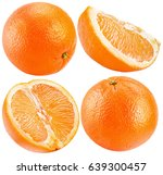 collection of oranges isolated... | Shutterstock . vector #639300457