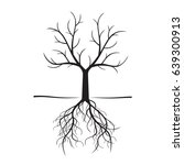 black naked trees and roots.... | Shutterstock .eps vector #639300913