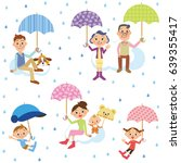 three generation family who... | Shutterstock .eps vector #639355417