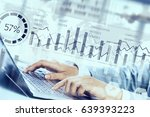 preparing statistics report | Shutterstock . vector #639393223