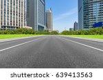 city road through modern... | Shutterstock . vector #639413563