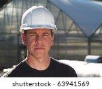 man in hard hat   Shutterstock . vector #63941569