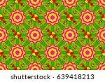 raster islamic template for... | Shutterstock . vector #639418213