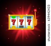 slot machine  icon. vector... | Shutterstock .eps vector #639442423