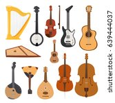 stringed musical instruments... | Shutterstock .eps vector #639444037