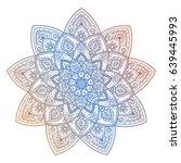 vector colorful mandala doodle...   Shutterstock .eps vector #639445993