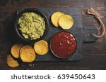 mexican nachos chips with... | Shutterstock . vector #639450643