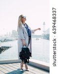 business woman wearing casual... | Shutterstock . vector #639468337