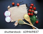 recipe mock up with copy space  ... | Shutterstock . vector #639469837