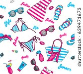 a set of summer clothes and... | Shutterstock .eps vector #639471673