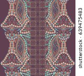 seamless symmetry lace pattern... | Shutterstock .eps vector #639475483