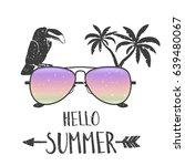 ''hello summer'' typography... | Shutterstock .eps vector #639480067