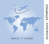 medical tourism and healthcare... | Shutterstock . vector #639489463