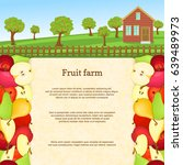 vector illustration of a fruit... | Shutterstock .eps vector #639489973