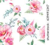 watercolor seamless pattern... | Shutterstock . vector #639491347