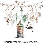 eid mubarak background with... | Shutterstock .eps vector #639499597