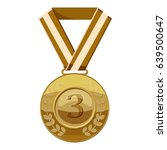 Bronze Medal With Number Three...