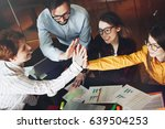 group young business colleagues ... | Shutterstock . vector #639504253