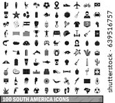 100 south america icons set in... | Shutterstock . vector #639516757