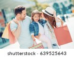 happy family with little... | Shutterstock . vector #639525643